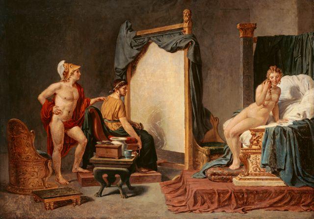 Jacques-Louis David - Apele peignant Campaspe /  Lille Palais des Beaux Arts
