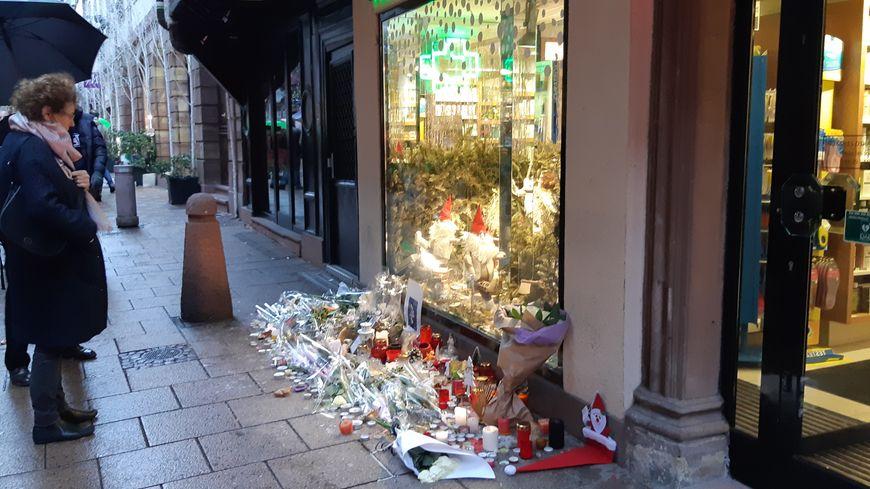 Hommage quelques jours après l'attaque du 11 décembre 2018, qui a fait cinq morts à Strasbourg.