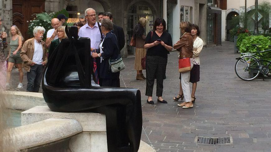 la Loreleï, sculpture de Livio Benedetti, acquise par la ville de Chambéry grâce à la souscription publique