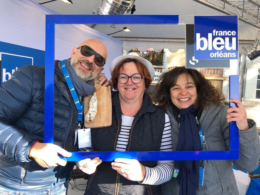 Isabelle Perrette avec Eva et Bruno