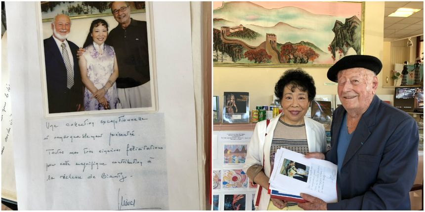 Michel Postel & Xintian Zhu ont accueilli l'ancien président de la République au Musée Asiatica de Biarritz en juillet 2007