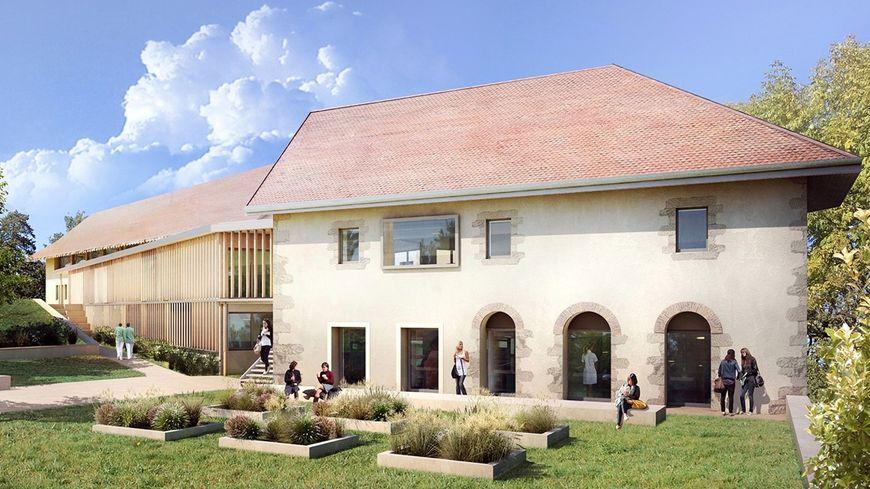 Un nouveau bâtiment pour l'Ifsi d'Annecy (Haute-Savoie). L'ouverture est prévue en 2020. (vue d'architecte - Centre hospitalier Annecy Genevois)