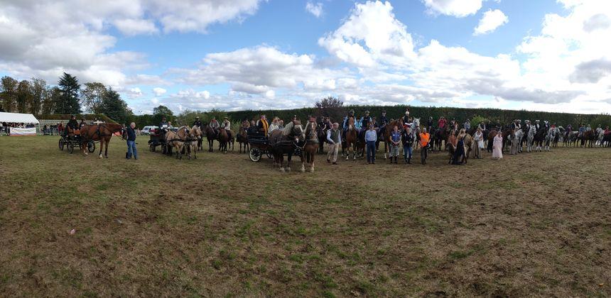 Les cavaliers et leurs chevaux se sont relayés tout l'après-midi pour montrer leur discipline.