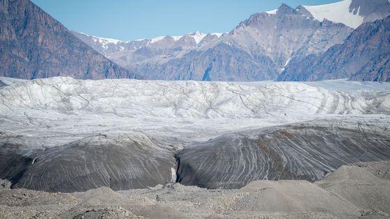 Un glacier dans le Canada Arctique