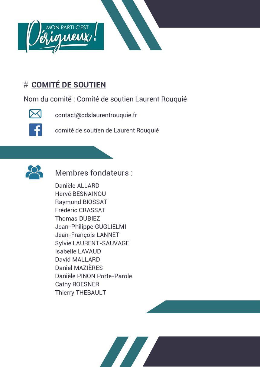 La liste officielle sera dévoilée en janvier, voilà d'ores et déjà son comité de soutien.