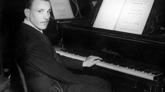 Portrait du pianiste Arturo Benedetti Michelangeli