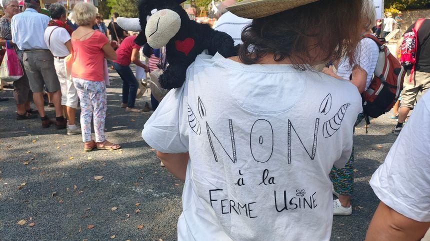 Les manifestants sont venus avec cloches, slogans... et même boîte à meuh !