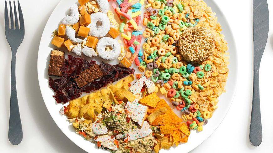 Une assiette d'aliments à éviter