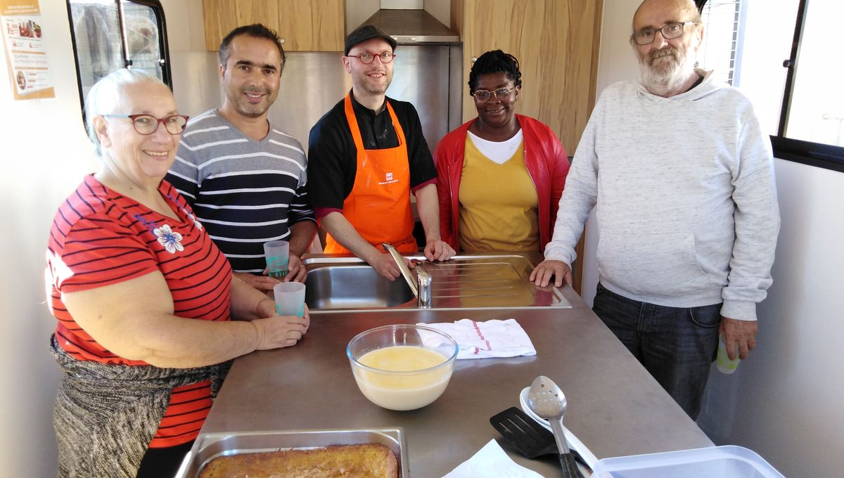 Banque alimentaire : le camion-cuisine fait escale en Creuse