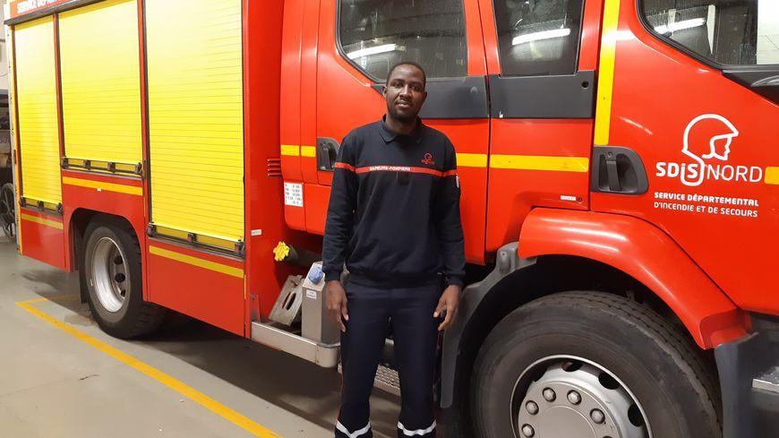 A 31 ans, Samir Kuku a intégré la caserne de Sin-le-Noble en août 2018. Il est pompier volontaire, et espère devenir professionnel.