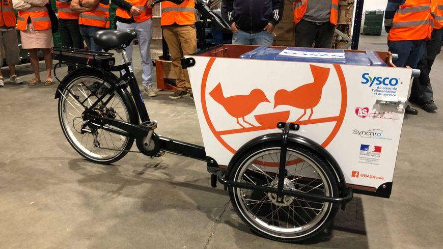 Le vélo-cargo de la Banque Alimentaire