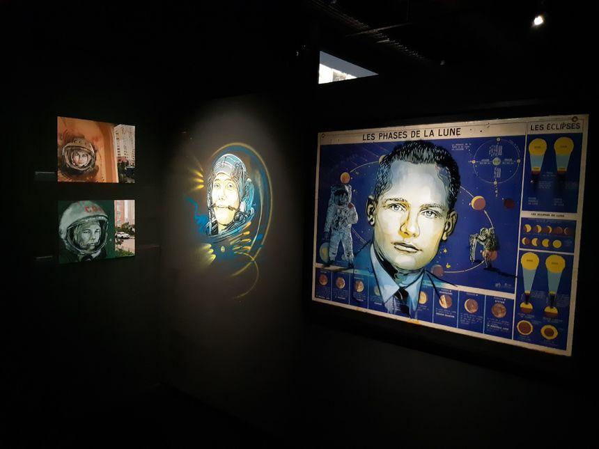 Neil Armstrong par C215 au musée du Bourget