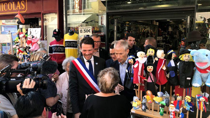 Le ministre de la Culture a longuement déambulé dans les rues de Charleville-Mézières