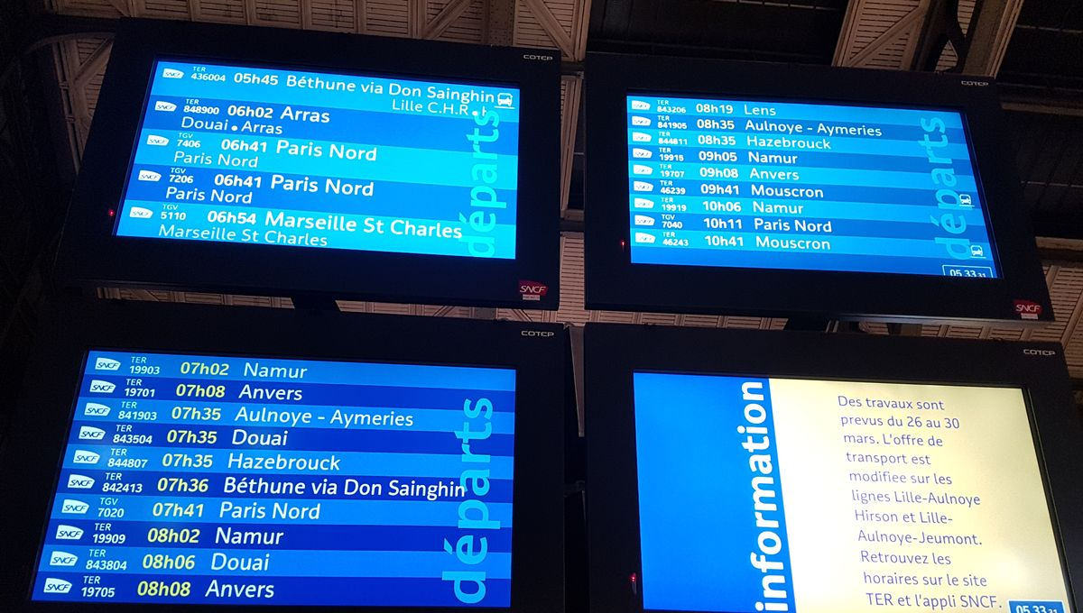 Grève SNCF : les prévisions de trafic ce mardi 24 septembre dans les Hauts-de-France