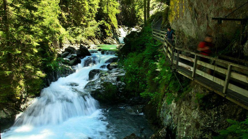 Les gorges de la Diosaz sur la commune des Houches en Haute-Savoie