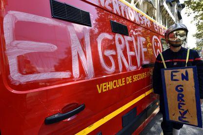 Les pompiers manifestent au centre-ville de Nancy et dénonce leurs conditions de travail