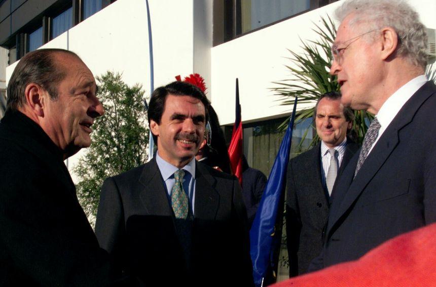 Jacques Chirac, José María Aznar et Lionel Jospin à La Rochelle