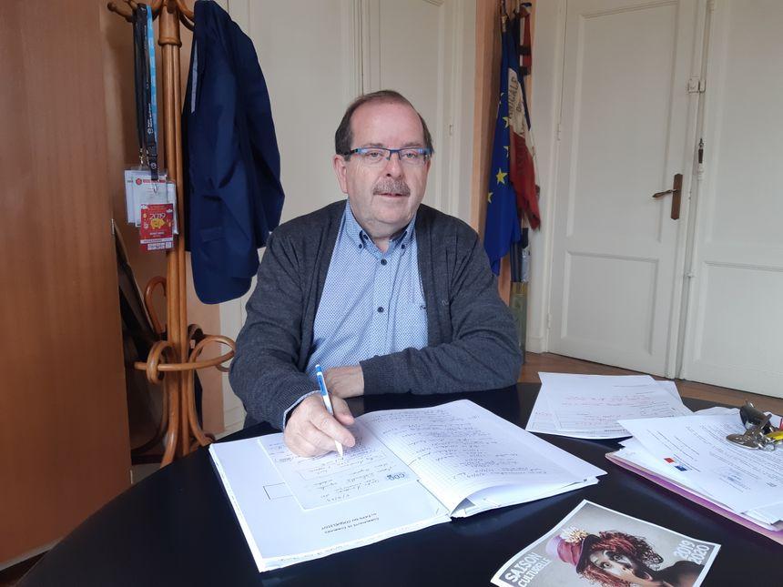Claude Cliquet, le maire d'Albert