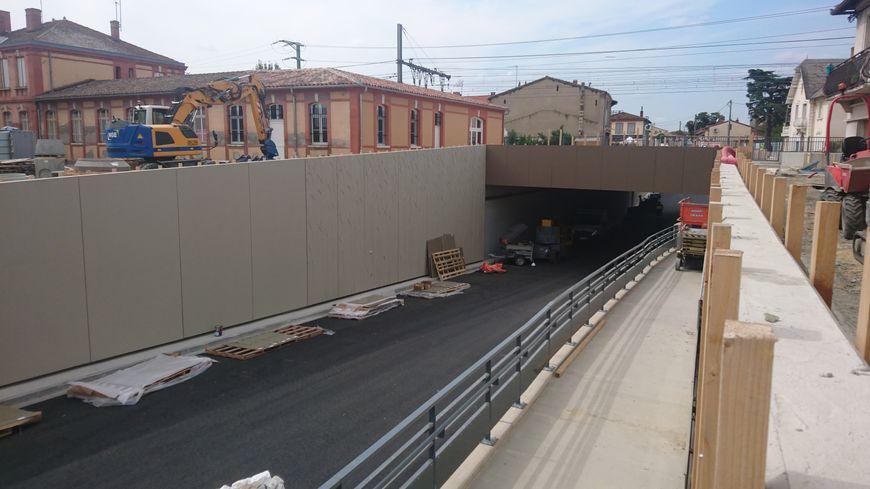 La nouvelle rue passage sous la voie ferrée