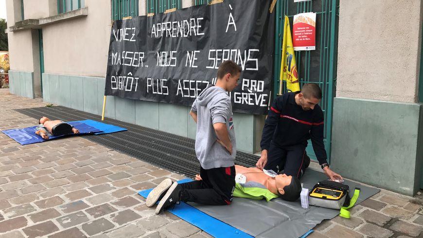 Mobilisation des pompiers sur un marché à Reims