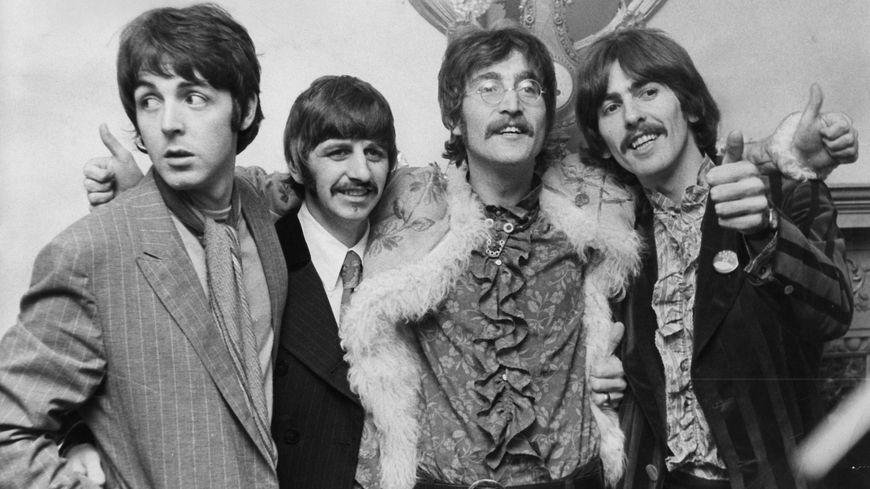 Le 9 août 1969 à Londres,, de gauche à droite : Paul McCartney, Ringo Starr, John Lennon et George Harrisson.