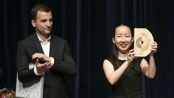 Nodoka Okisawa, Grand Prix de Direction du concours de Besançon et à gauche Victor Jacob, mention spéciale du jury