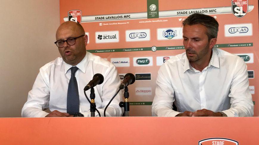 Jean Costa (à droite) n'est plus le directeur sportif du Stade lavallois.