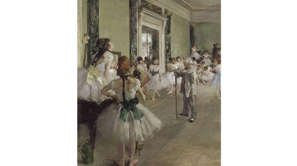 Edgar Degas : La Classe de danse, 1873. Huile sur toile, 85,5x73 cm. Paris, Musée d'Orsay
