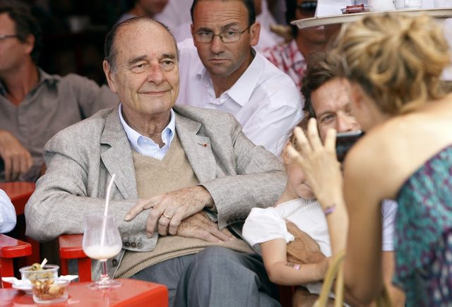 Jacques Chirac en 2011 à Saint-Tropez