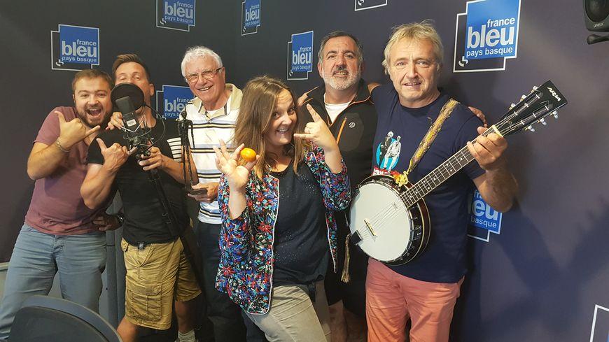 Radio Kutzu fête le gâteau basque avec Médéric Bouillon Christophe Daupes Maider Cigarroa, Gorka Roblès, Philippe Albor, Jean Sallabberry