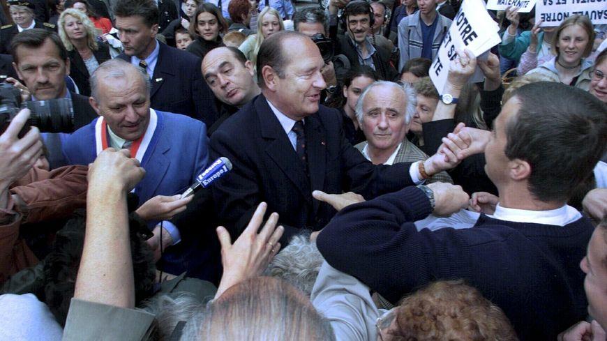 Jacques Chirac lors de sa dernière visite officielle en Savoie