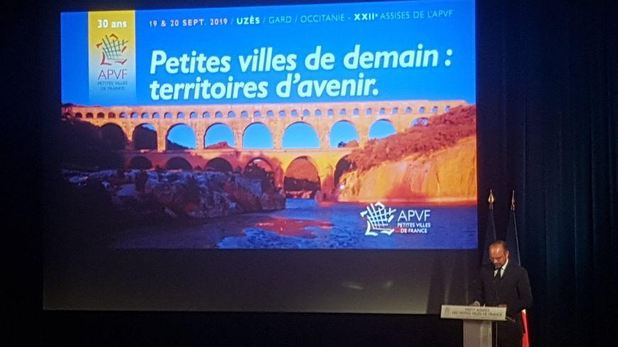 Edouard Philippe lors de son discours aux Assises des petites villes