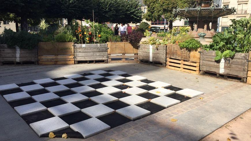 Le temps de Toques et Porcelaine ,un jardin potager géant inspiré d'Alice au pays des Merveilles est sorti de terre sur le parvis de l'Hôtel de ville de Limoges .
