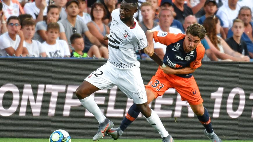 Joris Chotard (à droite) a réalisé une prestation intéressante, contre Rennes