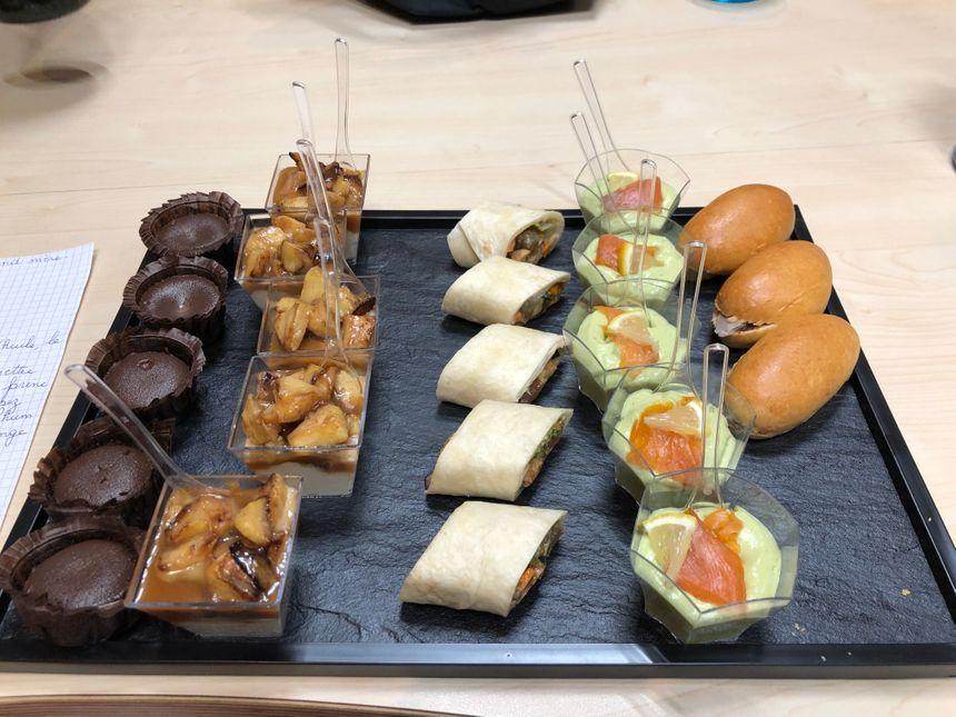 Le plateau repas concocté par Morgane (Aux toqués du Bocal)