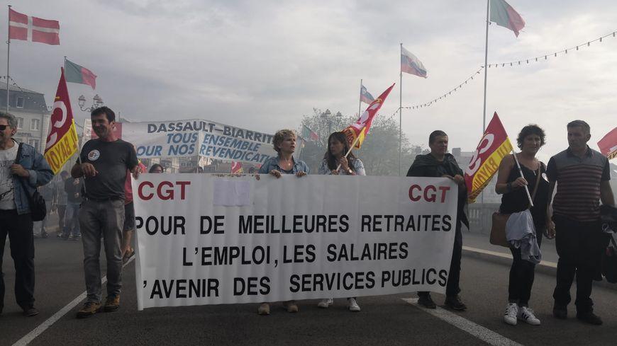 600 personnes ont manifesté à Bayonne ce mardi, contre le projet de réforme des retraites.