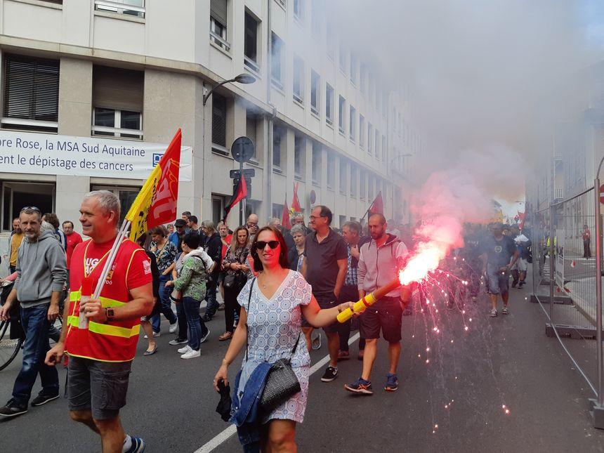 Le cortège est parti de la place de Verdun, à Pau.
