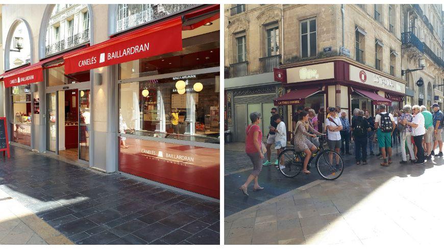 Les 2 enseignes concurrentes ont ouvert des boutiques à 50 mètres l'une de l'autre cet été rue Sainte Catherine à Bordeaux