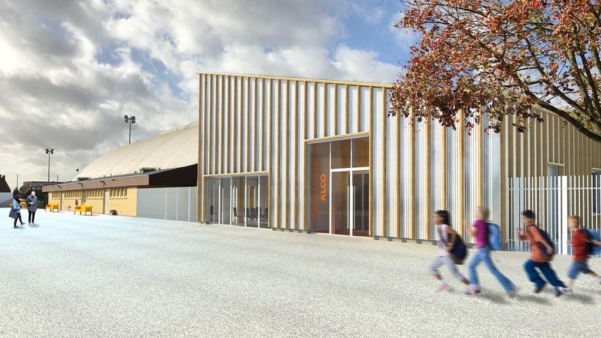 Une des vues du futur bâtiment d'Alco