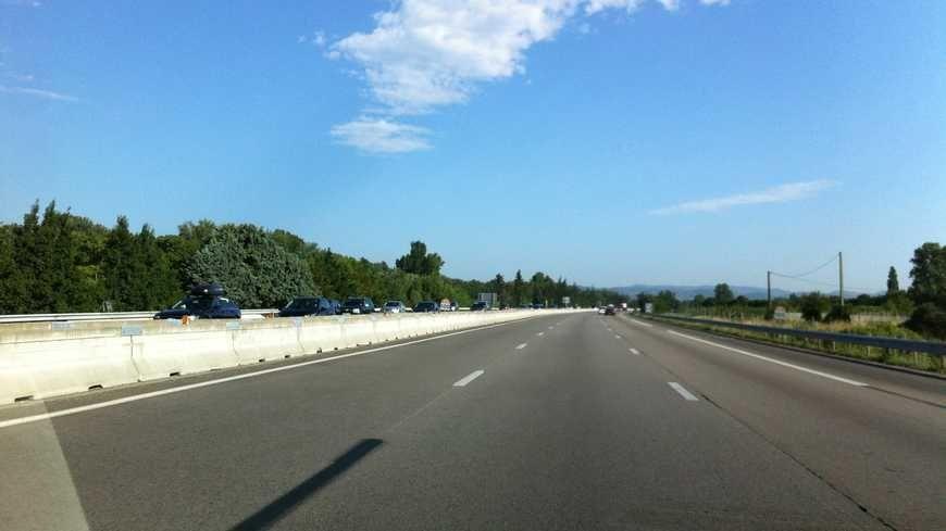 L'autoroute A7 dans la Drôme (image d'illustration)