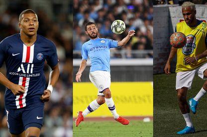 Kylian Mbappé, Neymar et Bernardo Silva