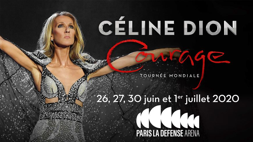 "Céline Dion en tournée mondiale ""Courage World Tour"""