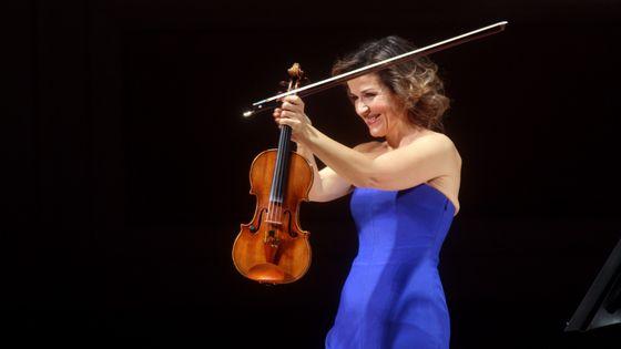 La violoniste Anne-Sophie Mutter, lauréate du Praemium Imperiale 2019 dans la catégorie Musique