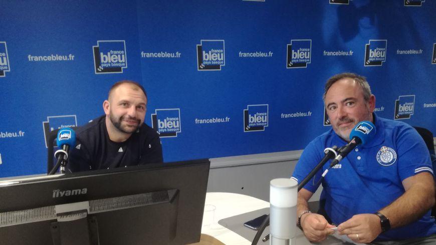 Arnaud Héguy (SA Mauléon Rugby) et Jérôme Giraldi (vice-président Saint-Palais Foot) sont les invités de 100% Club Pays Basque