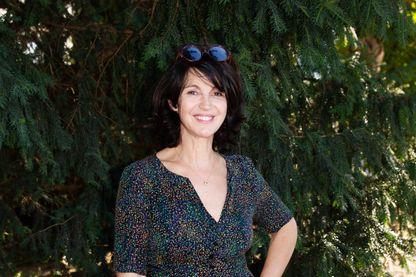L' actrice, réalisatrice et metteuse en scène Zabou Breitman le 24 août 2019 à Angoulême.