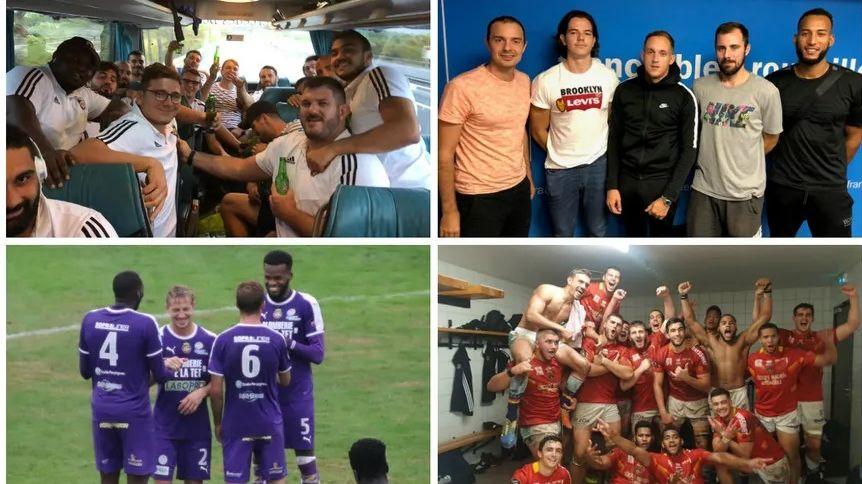 Les rugbymen de Céret et les espoirs de l'USAP, les basketteurs de Toulouges et les footballeurs de Canet à la fête.