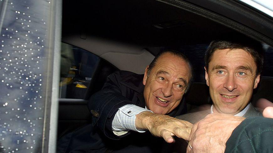 Jacques Chirac avec Philippe Briand