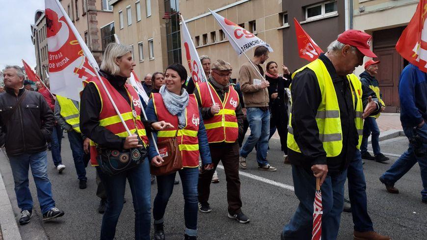 Entre 300 et 400 manifestants dans les rues de Belfort mardi matin