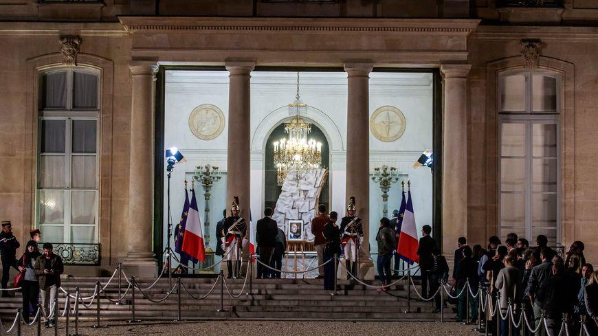 Hommage au président Jacques Chirac à l'Élysée jeudi 26 septembre au soir.