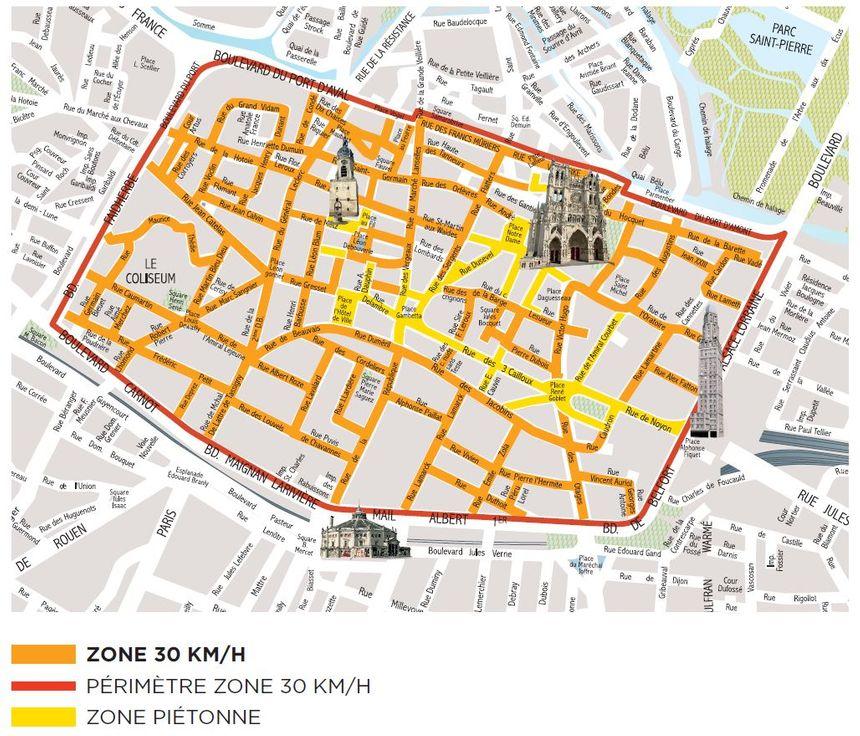 La future zone limitée à 30 kilomètres par heure.